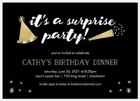 Secret Celebration Adult Birthday Invitations