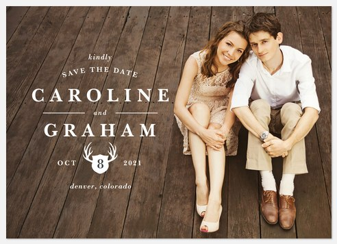 Rustic Elegance Save the Date Photo Cards