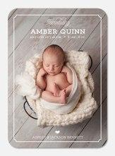 Baby Girl Announcements - Modern Frame