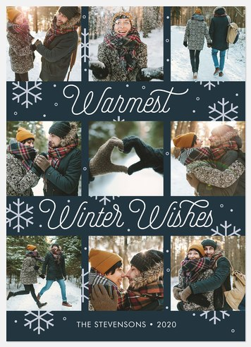 Wintertime Charm Holiday Photo Cards