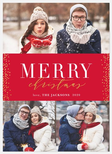 Snowy Luxe Holiday Photo Cards