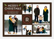 Merry Monogram -  holiday cards