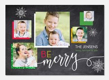 Snowy Chalk - holiday photo cards