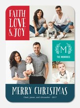Religious Christmas Cards - Modern Monogram