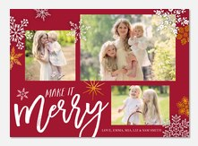 Christmas cards - Ornate Snowflakes