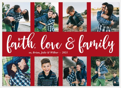 Wintertime Blessings Holiday Photo Cards