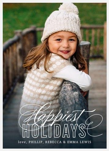 Classic Flourish Holiday Photo Cards