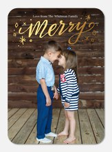 holiday photo cards - Merry Shimmer