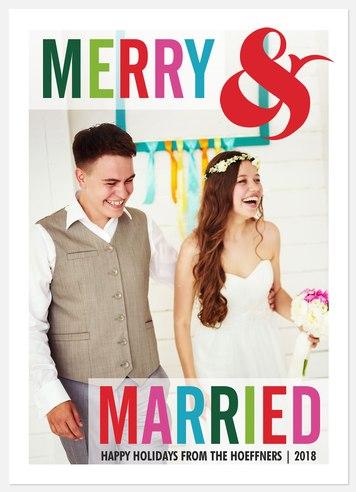 Cheerful Newlyweds