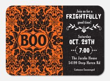 Ornate Boo - Halloween Party Invitations