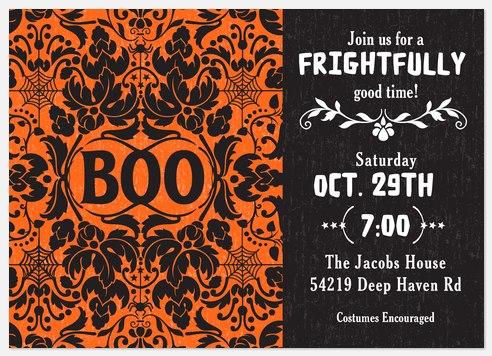 Ornate Boo Halloween Photo Cards
