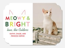 Dog Christmas Cards - Meowy & Bright