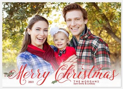 Elegant Foliage Holiday Photo Cards