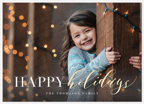 Luxe Cheer Holiday Photo Cards