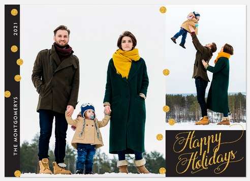 Sparkling Dots Holiday Photo Cards
