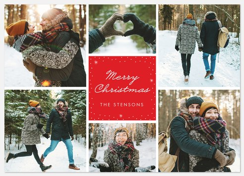 Delightful Flurry Holiday Photo Cards