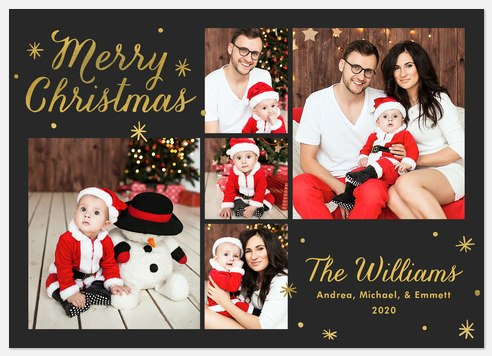 Shimmering Snowfall Holiday Photo Cards