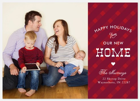 Charming Plaid Holiday Photo Cards