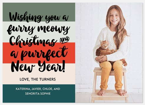 Meowy & Purrfect  Holiday Photo Cards