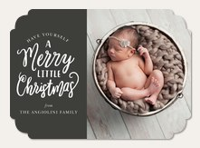 Infant Holiday Birth Card  - Little Whimsy