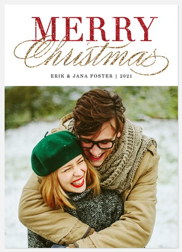 Sparkling Elegance Holiday Photo Cards