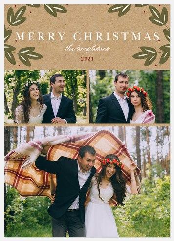 Krafty Holly Holiday Photo Cards