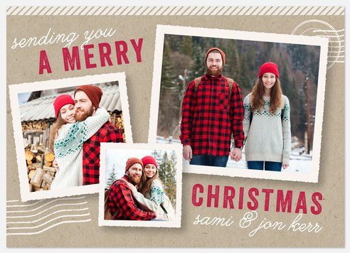 First Class Delivery Holiday Photo Cards