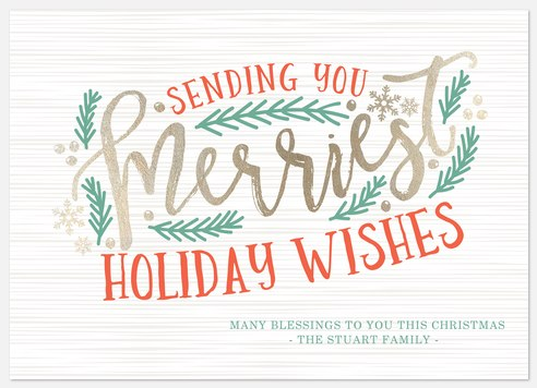 Luxe & Rustic Holiday Photo Cards