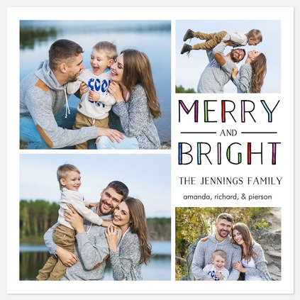 Colorful Merriment Holiday Photo Cards