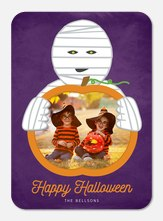 halloween photo cards - Frightful Mummy