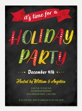 Holiday Party Invitations - Colorful Celebration
