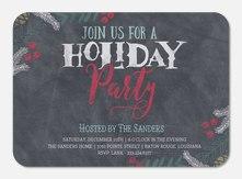 Chalkboard Merriment -  Christmas Party Invitations