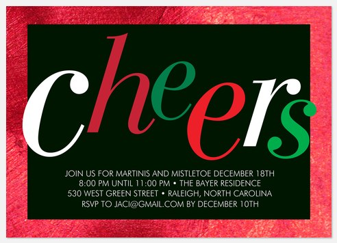 Cheerful Radiance Holiday Party Invitations