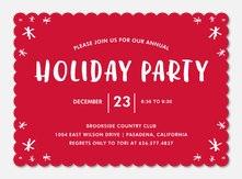 Christmas Party Invitations - Snowflake Soirée