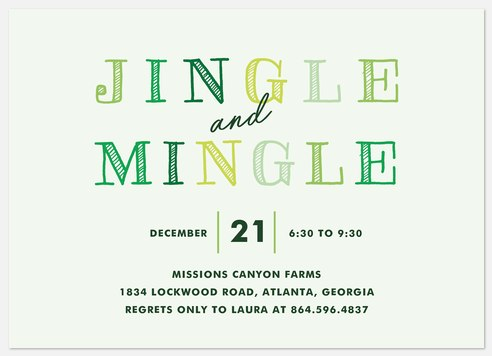 Jolly Party Holiday Party Invitations