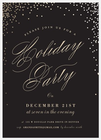 Sparkling Soiree Holiday Party Invitations