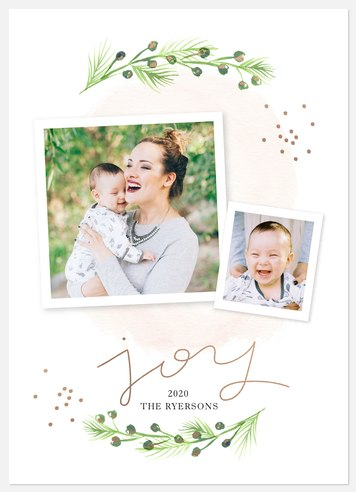 Painted Boughs Holiday Photo Cards