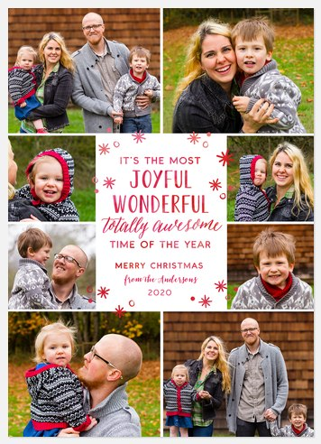 Joyful Wonderful Holiday Photo Cards