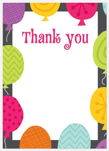 Whimsy Balloons Thank You Cards