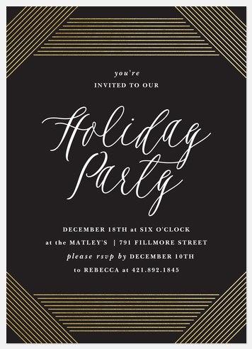 Holiday Deco Holiday Party Invitations