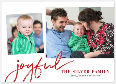 Joyfully Scripted Holiday Photo Cards