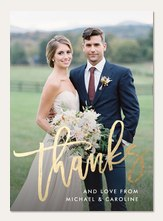 gilded thanks - Wedding Thank You Cards