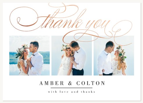 Wedding Thank You Cards, Scripted Thanks Design