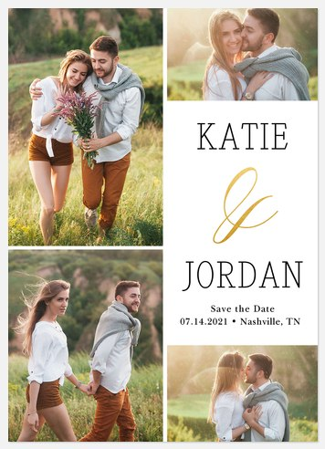 Elegant Ampersand Save the Date Photo Cards