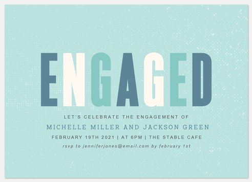 Engaged Block Engagement Party Invitations