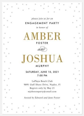 Confetti Gleam Engagement Party Invitations