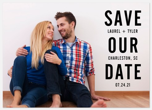 Bold Date Save the Date Photo Cards
