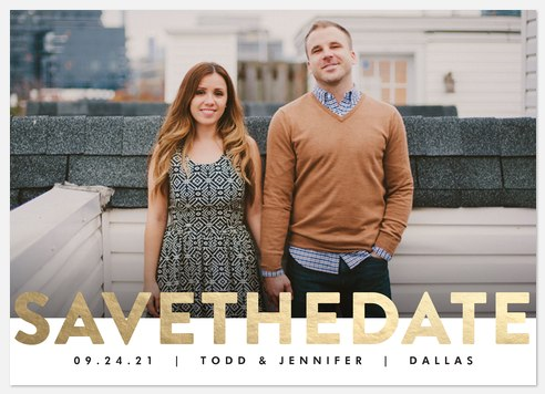 Brilliant Declaration  Save the Date Photo Cards