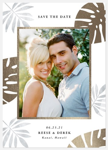 Tropical Paradise Save the Date Photo Cards