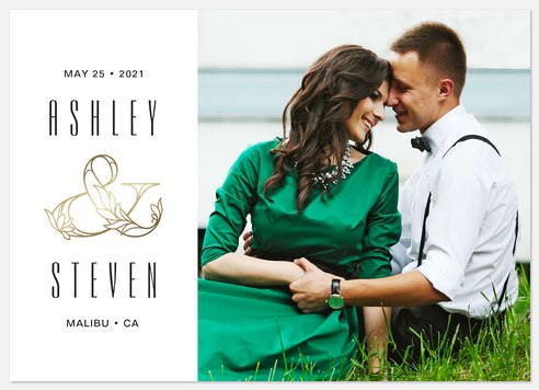 Opulent Ampersand Save the Date Photo Cards